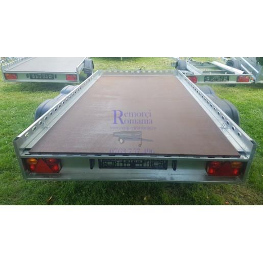 Remorca Platforma Apicola / Marfuri Repo, 2 Axe Tandem, Knott, Star mini QED 3016/07 *100 mm, 300x160x10 Cm, 750 Kg