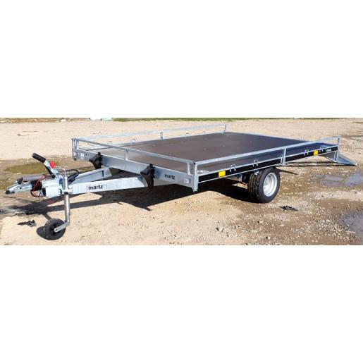 Remorcă Martz, ATV 2, Platformă, 2 Atv-uri, Moto, Mono Ax, Al-Ko 300x200x10 Cm, 1000 Kg Cu Frânare