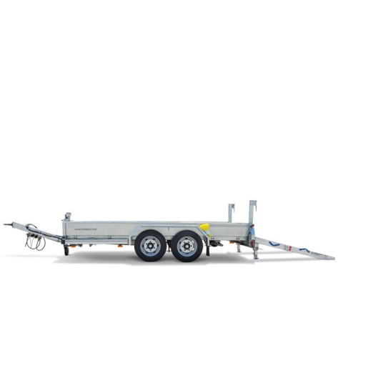 Remorca, Platforma Auto, Transport Utilaje, Humbaur 105020BS, Dublu Ax, Cu Sistem De Franare, 500x201x25 cm, 10500 kg