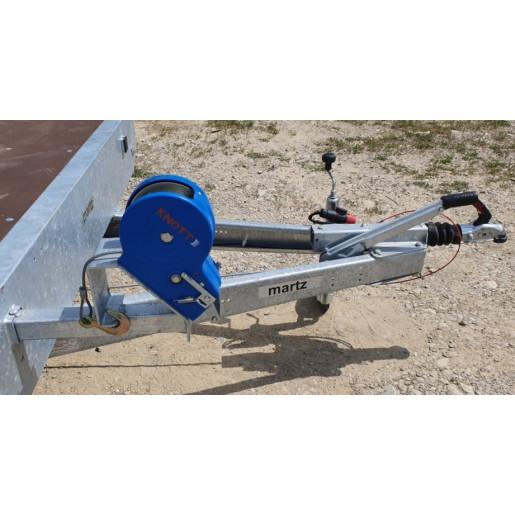 Troliu Knott, manual, cu cablu de otel, dotare platforma