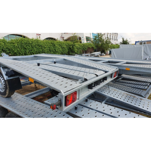 Remorca, Platforma Auto, Trailer, Martz, CAR 4020 S, Dublu Ax, Cu Sistem De Franare, Al-Ko 400x200 cm, 2700 kg