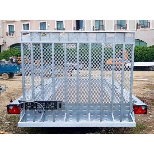 Remorcă, Platformă Auto, Transport Utilaje, Martz BAU 3 350/3, Triplu Ax, Cu Sistem De Frânare, Al-Ko 350x160 cm, 3500 kg