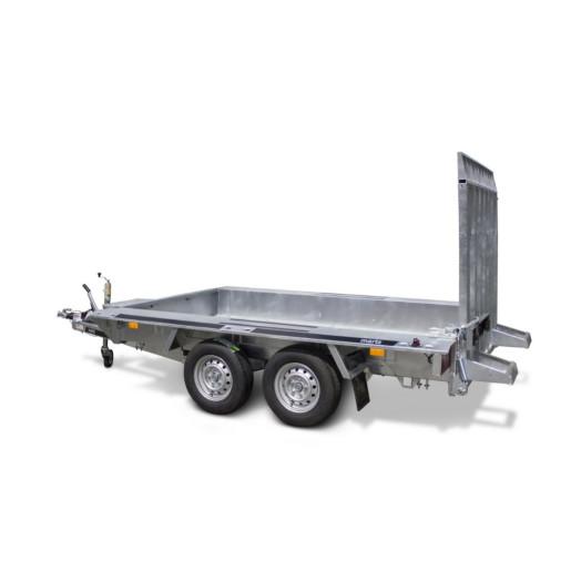 Remorca, Platforma Auto, Transport Utilaje, Martz BAU 2 300, Dublu Ax, Cu Sistem De Franare, Al-Ko 300x150 cm, 3500 kg