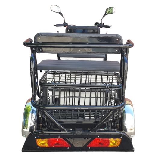 Triciclu electric de persoane, Voltarom M5, 3500W, autonomie 50km, Alb