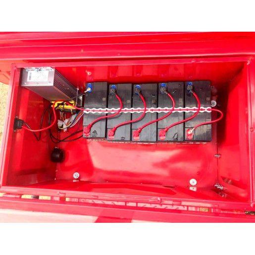 Triciclu Electric - Tuk Tuk - camioneta 290x100 cm - Rosu