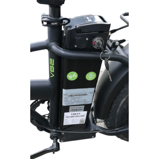 Bicicletă Pliabilă, Electrică, Voltarom, Shimano, B2 - 800 W, autonomie între 30-110 km
