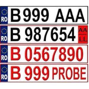 Numar rosu valabil 3 luni, pentru vehicule tractabile noi, cu RCA inclus si autorizatie provizorie