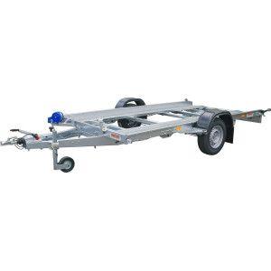 Remorca, Platforma Auto,ATV, Buggie, Side By Side, Neptun LAWETA N16-380, Mono Ax, Cu Sistem De Franare, Al-Ko 384x185x13 cm, 1600 kg