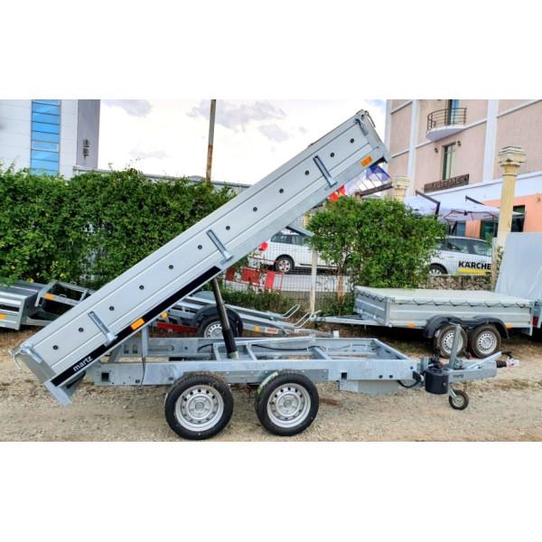 Remorca Martz, Basculanta Hidraulic, High Bed, 2 Axe Tandem, Cu Sistem De Franare, Obloane De Aluminiu Si Podea De Otel, Al-Ko 304x153x40, 3000 kg