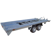 Remorcă, Platformă Auto, Repo, SSA 4020/25 B, 2 Axe, Cu Sistem De Frânare, Al-Ko 400x200 cm, 2000 kg