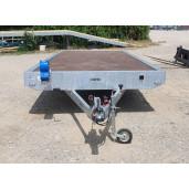 Remorca, Platforma Auto, Apicola, Martz GT PLATEAU 400, Dublu Ax, Cu Sistem De Franare, Al-Ko 400x200 cm, 2700 kg, roti pe 13'