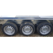 Remorca, Platforma Auto, Transport Utilaje, Martz BAU 3 400/3, Triplu Ax, Cu Sistem De Franare, Al-Ko 400x180 cm, 3500 kg