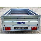 Remorca Repo, 2 Axe Tandem, Knott, Star mini QRDS 2613, 260x135x40 Cm, 750 Kg