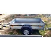 Remorca Cu Sistem De Franare, Martz, Premium 205, Mono Ax, AL-KO, 205x125x35 Cm, 1300 Kg