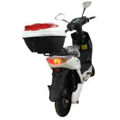 Scuter Electric (Bicicletă), Fără Permis, Cu Pedale Voltarom SX - 220 W, Autonomie 60km, Alb