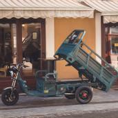 Triciclu Electric - Tuk Tuk - camioneta MOVE ECO Verde 290x100x125 cm Cu Prelata Si Parbriz